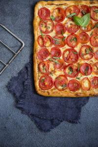 Aurore Deligny, photographe culinaire en IDF, tarte à la tomate
